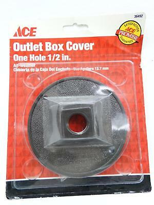 "NEW Ace 36492 Bronze Round One Hole 1/2"" All Weather Outlet Box Cover"