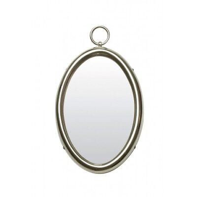 Design Spiegel oval 30x47 cm PAST Nickel (98497301419)