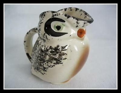 Vintage  Pottery Whistling Bird Creamer Jug Earth Tone Bird Hand Painted