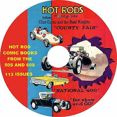 Hot Rod and Racing Comic Books from the 1950s and 60s on 1 DVD 113 comics in all