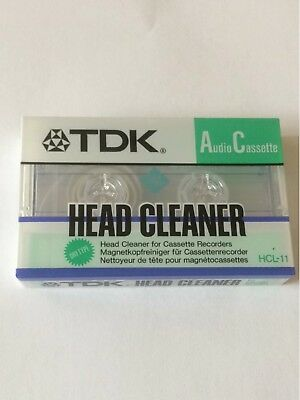 Tdk - Audio Cassette - Head Cleaner - Hcl-11 - New Sealed
