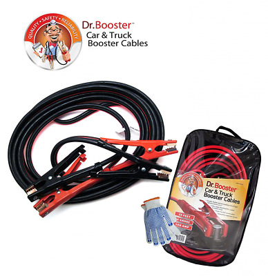 Dr.Booster™ Heavy Duty Booster Cables, 6 Gauge, 25 FT, 500 AMP. Best Jumper Cabl