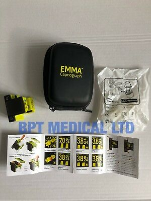 Masimo EMMA Capnograph Mfd - 2014 Software - 1.4.0.2 with Airway Adapter + CASE
