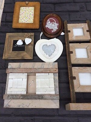 picture frame bundle 6 shabby chic style photo frames rustic multi photo frames