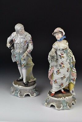 Pair of Antique 19th Century German Porcelain Figurines