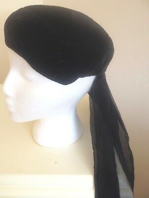 French Vintage Funeral Hat