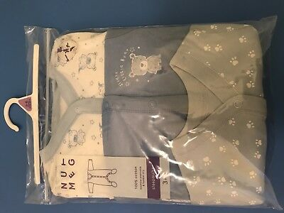 Baby Boys Sleepsuits 3-6months