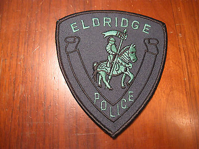 Eldridge Ia Police Patch (Subdued Version With Knight))
