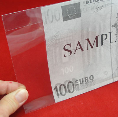 100 Museum Grade Archival Mylar Currency Sleeves for European Size MG470