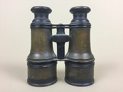 LeMaire Fabt Paris US Signal Day Night Antique Military Binoculars, Brass WWI