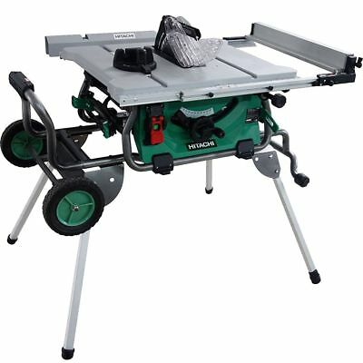 Hitachi C10RJ 10'' Jobsite table Saw w/Fold and Roll Stand New