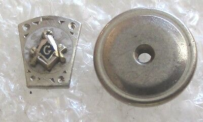 Vintage Masonic York Rite Royal Arch Mason Keystone Pin-Platinum or Palladium