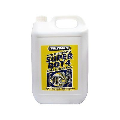 Polygard Super Dot 4 Synthetic Brake And Clutch Fluid 5L 5Litre