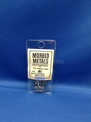 Brand New! Morbid Metals Body Jewelry For Ears And Nose, Assorted