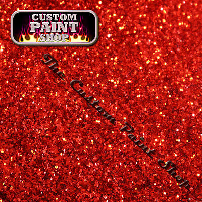 "Metal Flake, Custom Paint KICKASS BRIGHT RED  50grams Large (375micron 0.015"")"