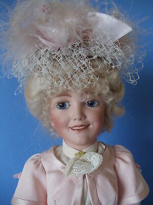 Antique Reproduction of S & H 1388 Bisque Head Lady Doll by Jean Nordquist 19""