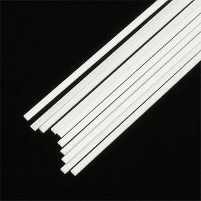 350mm White Matt/Gloss Plasticard Strip 0.5, 0.75, 1mm Thk 5, 6, 10,12mm Wide