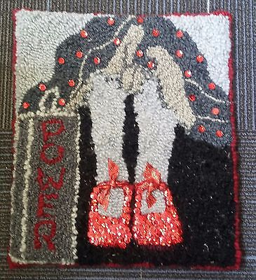 """Rug Hooking Pattern YOU'VE ALWAYS HAD THE POWER on BURLAP 14.5"""" X 16.5"""""""