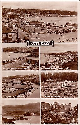 Rothesay - Multiview B&w Postcard