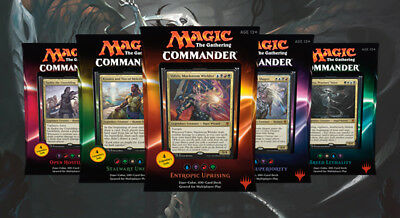 MTG Magic Commander 2016 Edition 5 Decks Set Sealed