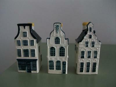 KLM Bols Delft Houses -  Numbers 23, 24, 25 - Sealed With Contents.