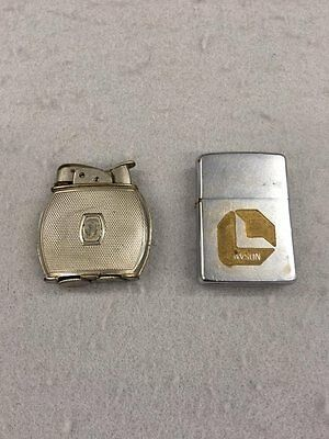 Vintage Lot of (2) Evans 19023/Zippo Lawson Hand Lighters