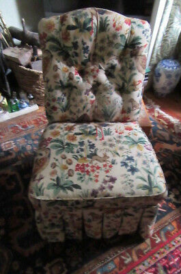 Small Upholsterd Chair Sandersons Fabric -  Ex Condition