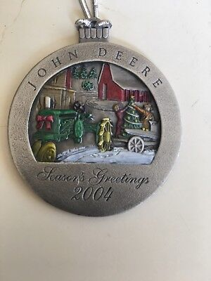 Vintage 2004 John Deere Collector Christmas Ornaments