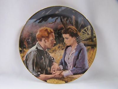 Gone with the Wind Plate Scarlett and Ashley After the War WS George 1988 50th