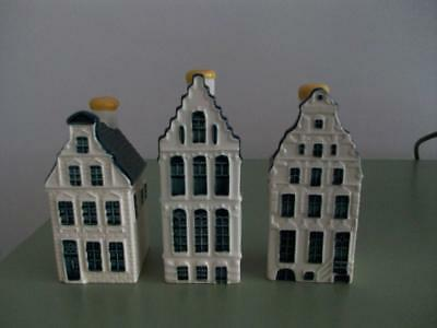 KLM Bols Delft Houses -  Numbers 51, 52, 53 - Sealed With Contents.