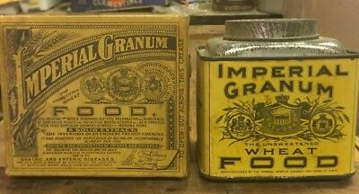 Imperial Granum Antique Medical Pharmacy Food Tin & Box With Contents