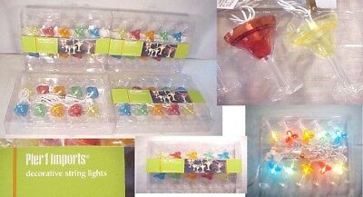 PIER 1 IMPORT DECORATIVE STRING LIGHT SETS Indoor/Outdoor party glasses 9ft