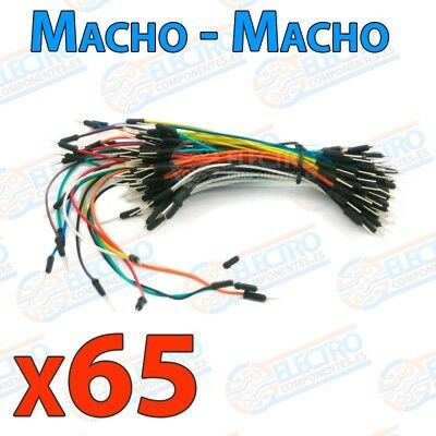 Kit 65 cables jumper Macho-Macho para protoboard - Arduino Electronica DIY