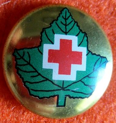 Canadian Red Cross metal vintage button