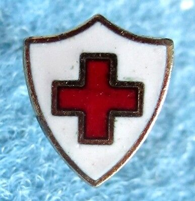 Red Cross lapel pin , very small
