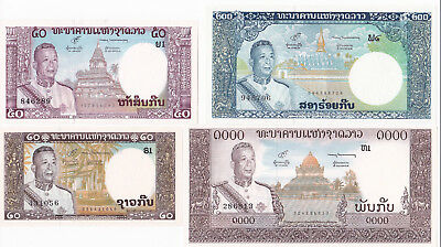 Banque Nationale Du Laos 1963 Banknotes Set [Gem Unc Condition] [F/ship]