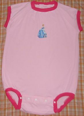 Adult  Baby  Sissy Bodysuit   Pink