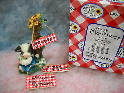 Mary's Moo Moos Tree With Message Sty#319430 1Mm645 W/box