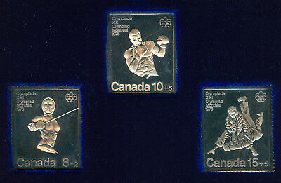 1976 Canada Olympic .999 Silver Stamp Collection Set