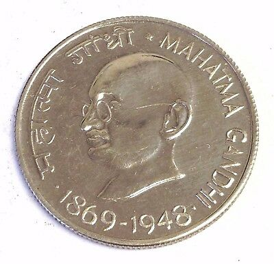 1969-B India 50 Paise PROOF (1869-1948) M GANDHI 100 years, Scarce 9,147 Mintage