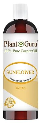 Sunflower Seed Oil 16 oz. Cold Pressed 100% Pure Natural Organic Refined