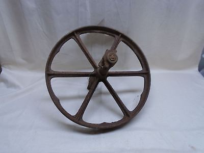 Antique Cast Iron Metal Wheel and Axle Wagon Cart Wheelbarrow