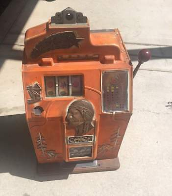 Jennings 5 Cent 4 Star Chief Slot Machine Nice Unrestored Original