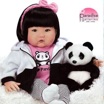 "Paradise Galleries Reborn Asian Baby Doll ""Bamboo"" - 20 inch Chinese Girl Doll"