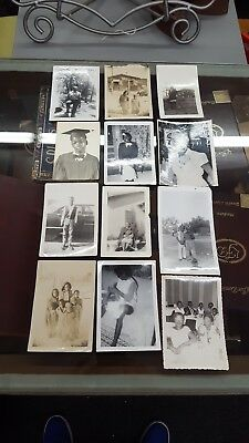 Lot of 12 Vintage African-American Photographs