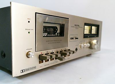 Rotel RD-10F Cassette Deck Dolby B Super Hard Permalloy Head - FREE UK DELIVERY