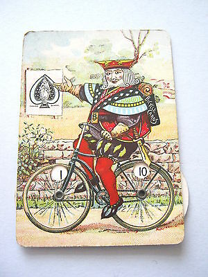 USPCC BICYCLE LITHOGRAPH WHIST SCORE KEEPER 1890s ANTIQUE PLAYING CARDS GAME