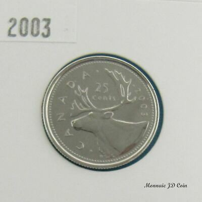 2003 P  Canada 25 Cent Proof Like From Set