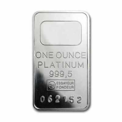1 oz Platinum Credit Suisse Bar