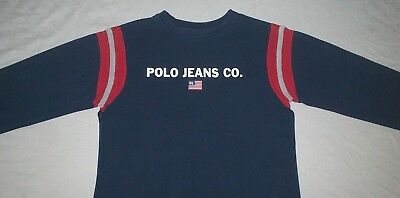 Boys Polo Jeans Co. T-Shirt Long Sleeve Size Small Ralph Lauren